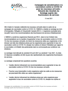 French - COVID-19 Survey Report