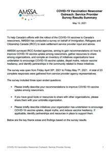 English - COVID-19 Survey Report