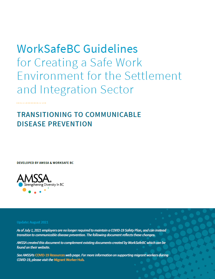 WorkSafeBC Guidelines